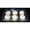 Compostable Plastic Mini Muffin Container (100/case)