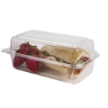 9x5x3.5 Biodegradable Compostable Plastic Corn Hinged Loaf Clamshell ON SALE!!! (240/case)