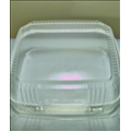 8x8x3 Compostable Plastic Corn Clamshell (250/case)