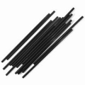 6'' Biodegradable Compostable Corn Plastic Black Straws Unwrapped (3000/case) NEW!!!