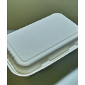 Biodegradable Compostable 9x6x3 2-Compt. Sugarcane Clamshell (200/case)